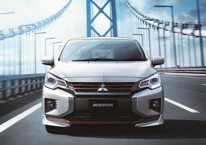 タイで生産され、輸入されているミラージュ 三菱は、コンパクトカー「ミラージュ」のフロン...