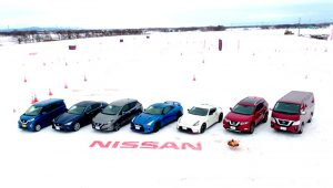 日産車雪上テスト